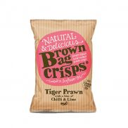 Brown Bag Crisps T/ Prawn Chil/lim