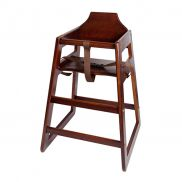 Wooden High Chair (Dark Wood)